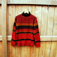 vintage Branford fall sweater.  sixe M. mock neck. unisex