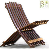 Folding Wine Barrel Chair by Whit McLeod Furniture - BuyGreen.com