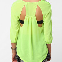 Sparkle & Fade Open Back Chiffon Blouse