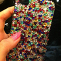 Crystal Handmade iPhone 5 cover,4,4s Case ,Pearl Cell phone cover,
