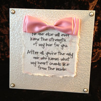 "Mom and Baby Bond - Quote Plaque 8x8"" - Nursery Wall Decor"