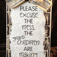 The Grandchildren Are Making Memories Plaque - 6x12&quot; Wall Decor