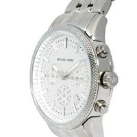 Michael Kors Silver Chronograph Watch at asos.com