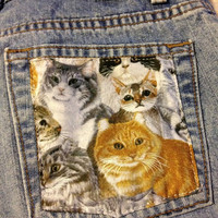 High Rise Cat Pocket Shorts