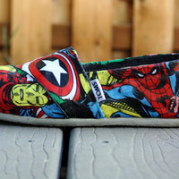 Custom Made Toms- Marvel Superheroes (Includes a pair of Toms)