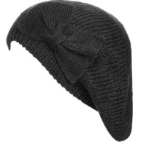 Basic Bow Beret | Shop Accessories at Wet Seal