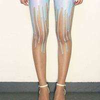 Multitone Bubblegum Melting Tights | URB
