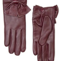 MANGO - ACCESSORIES - Hats, Gloves and Scarves - Bow leather gloves
