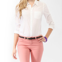 Fitted Woven Shirt | FOREVER21 - 2000049012