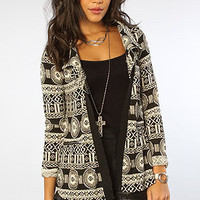 The Flash Native Sweater Cardigan in Black White