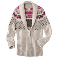 Mossimo Supply Co. Juniors Fairisle Shawl Collar Cardigan - Assorted Colors
