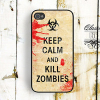 iPhone 5 Iphone 4s Case Keep Calm and Kill Zombies Iphone Case, Iphone 4 cover