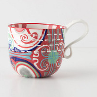 Kantha-Stitched Mug