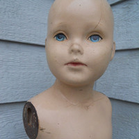 Vintage Child Mannequin With Stand