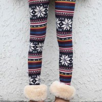 Christmas Snowflake Tights$34.00