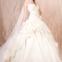Ball gown one shoulder of white Halter cheap 2012 Agora wedding gowns BABG0011 -Shop offer 2012 wedding dresses,prom dresses,party dresses for girls on sale. #Category#