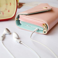 H Pink Multi Purpose Envelope Wallet Case coin Purse for Phone iPhone 4 4S 5 5G