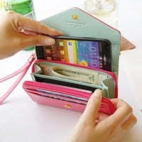 Wrist Wallet Pouch Case Wristlet for Cell Phone iphone Galaxy S MP4 MP5