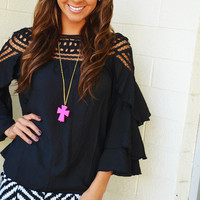 The Stop And Stare Top: Black | Hope's