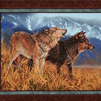 Wolves, Wolf pack ,Wolf ,wall hanging ,Throw blanket, Native American, Rustic decor, Cabin, Lodge, Man cave,
