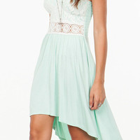 Minty Laced Romance Dress