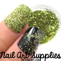 nailartsupplies | Lime Green - Bright Green Raw Fine Nail Glitter Mix 3.5 Grams | Online Store Powered by Storenvy