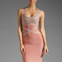 Stretta Ciara Contrast Dress in Light Salmon/Wood from REVOLVEclothing.com