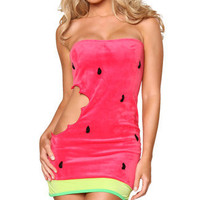 Sexy Watermelon Costume, Sexy Fruit Costumes, Watermelon Halloween Costumes, Adult Water Melon Costumes