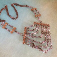 Bohemian Vintage Inspired Antique Copper Necklace