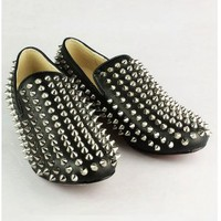 Christian Louboutin Black Rivets Men Shoes [20111029] - $247.00 : shoesoutletus.com, shoesoutletus.com