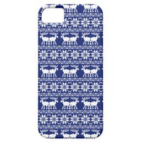 Ugly christmas sweater pattern navy blue iPhone 5 cases from Zazzle.com