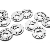 LOVE TOKENS - SET OF 10 | Kiss, Massage &amp; Hug Coins 