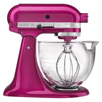KitchenAid 5-Qt. Stand Mixer Glass - Raspberry Ice