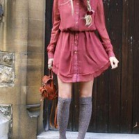 Red Mini Dress - Conker Frank Dress | UsTrendy