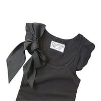 Sale womans bow top black or gray retro romantic by tratgirl valentino inspiration