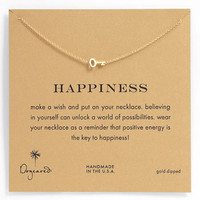 Women's Dogeared 'Whispers - Happiness' Boxed Pendant Necklace