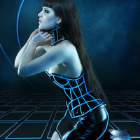 Artifice Products - Glowing trim Heart Overbust Corset