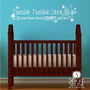 Twinkle Twinkle Little Star Wall Decal - Children's Baby Vinyl Wall Decal Nursery Sticker