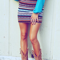 Southwestern Chic Skirt: Jade/Multi Colors | Hope's