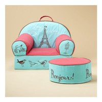 Kids' Personalized Seating: Kids Personalized Paris Eiffel Tower Nod Chair