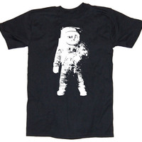 Mens ASTRONAUT geek T Shirt S M L XL XXL (black)
