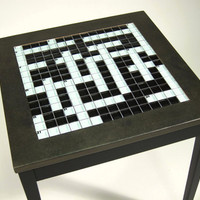 Crossword Side Table by slgeorge