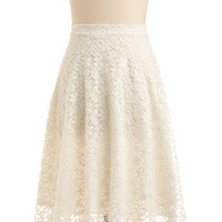 Let's Talk Lace Skirt | Mod Retro Vintage Skirts | ModCloth.com