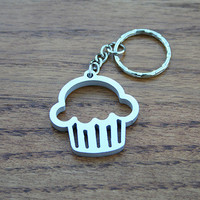 Sweet Cupcake - Metal Keychain