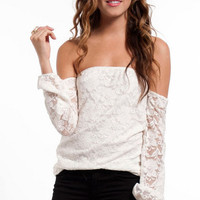 Dantelle Off Shoulder Top $52