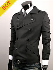 New Style Slim Cutton Black jacket