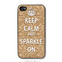 Keep Calm and Sparkle iPhone 4 / 4s Case. FREE SHIPPING - Worldwide.