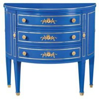 One Kings Lane - The Foyer - Sarreid Encore Chest, Cobalt