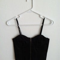 Black Zip-Up Corset by Catherine's Apparel