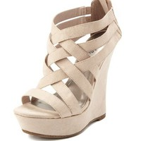 Zip-Back Strappy Wedge: Charlotte Russe